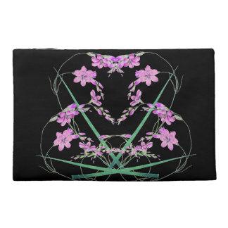 Sac floral de coeur de fleurs botaniques de lis trousse à accessoires de voyage
