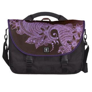 sac floral du mehndi violet c de henné sacoche ordinateur portable