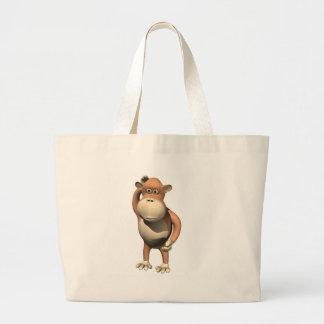 Sac fourre-tout à affaires de singe d'enfants