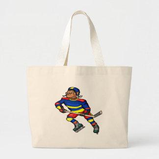 Sac fourre-tout à hockey de singe d'enfants