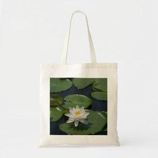 Sac fourre-tout à nénuphar de Lotus blanc