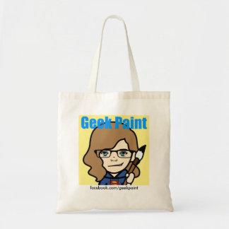 Sac fourre-tout à peinture de geek
