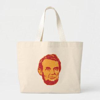 Sac fourre-tout à portrait d'Abraham Lincoln