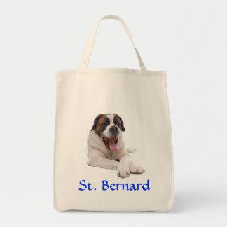 Sac fourre-tout à toile d'épicerie de St Bernard