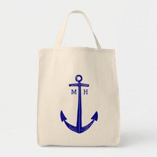 Sac fourre-tout nautique II à ancre de bleu marine