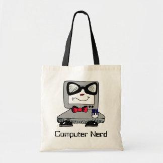 Sac fourre-tout nerd à geek d'ordinateur