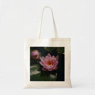 Sac fourre-tout rose à nénuphar de Lotus