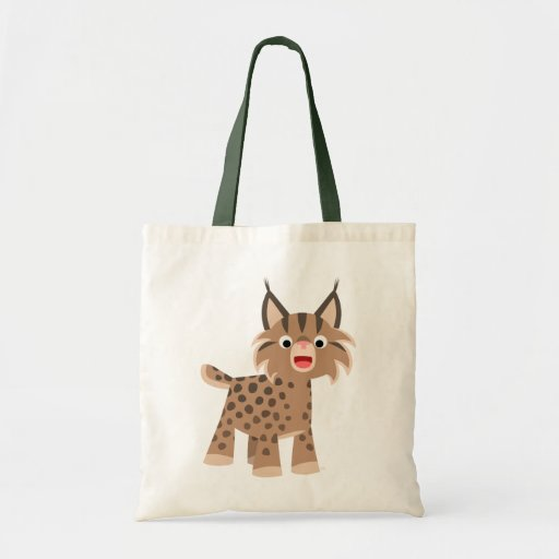 Sac heureux de Lynx de bande dessinée mignonne
