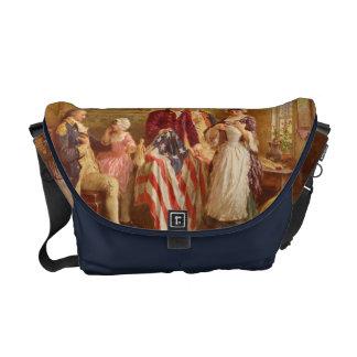 Sac messenger à drapeau américain de Betsy Ross Sacoches