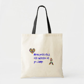 Sac Mon petit-fils est autiste et je l'aime Budget Tote Bag