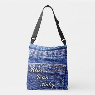 Sac mortuaire à croix de bébé de blue-jean, milieu
