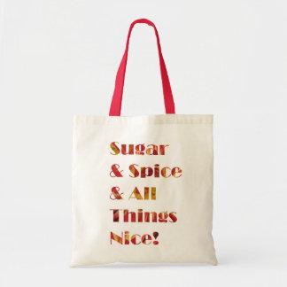 Sac rouge de fleur de sucre et d'épice
