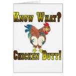 Sachez ce qui ?  Bout de poulet ! Carte De Vœux