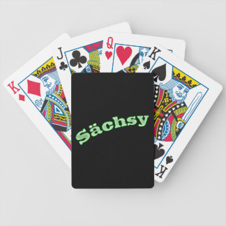 sächsy sexy Saxonia Bicycle Playing Cards