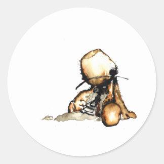 Sackboy Suicide Classic Round Sticker