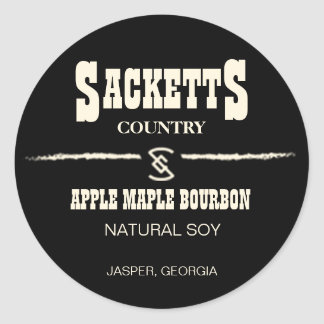 Sacketts Candle Circle Label