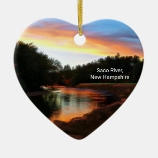 Saco River Heart Ornament