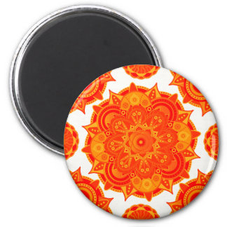 Sacral Chakra Mandala 2 Inch Round Magnet