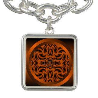 Sacral Chakra Mandala Charm Bracelet
