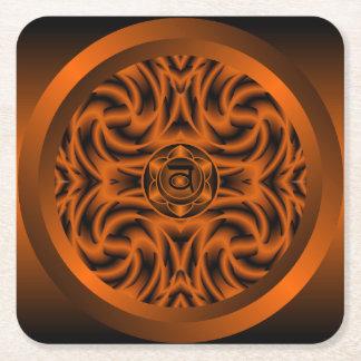 Sacral Chakra Mandala Coaster