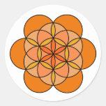 Sacral Flower of Life Round Sticker