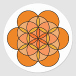 Sacral Flower of Life Round Stickers