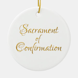 Sacrament of Confirmation Golden 3D Look Ceramic Ornament