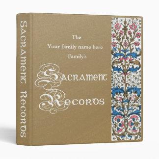 "Sacrament Records 1"" Binder"