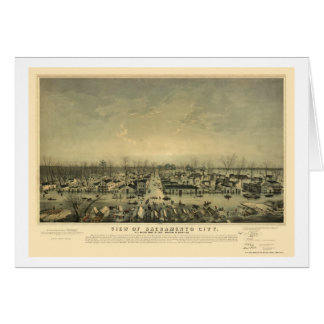 Sacramento, CA Panoramic Map - 1850 Card