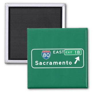 Sacramento, CA Road Sign Magnet