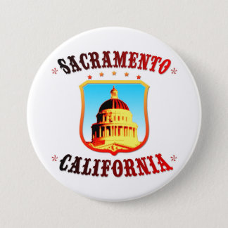 Sacramento California 3 Inch Round Button