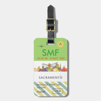 SACRAMENTO, CALIFORNIA SKYLINE WB1 - LUGGAGE TAG