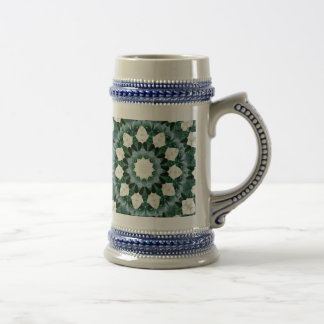 Sacramento Green and Cerulean Blue Mandala Beer Stein