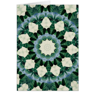 Sacramento Green and Cerulean Blue Mandala Card