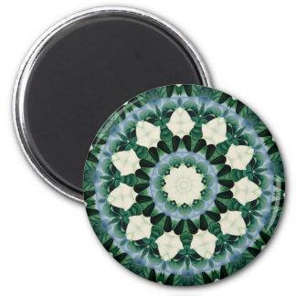 Sacramento Green and Cerulean Blue Mandala Magnet