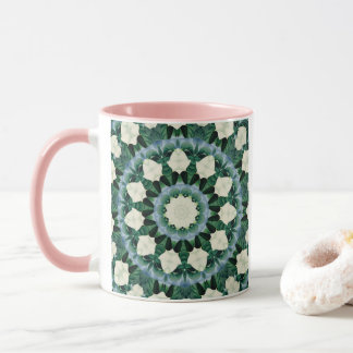 Sacramento Green and Cerulean Blue Mandala Mug
