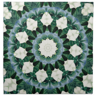 Sacramento Green and Cerulean Blue Mandala Napkin