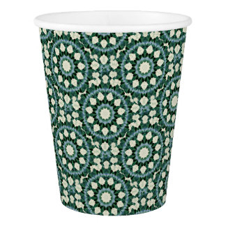 Sacramento Green and Cerulean Blue Mandala Paper Cup