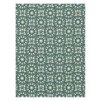 Sacramento Green and Cerulean Blue Mandala Tablecloth