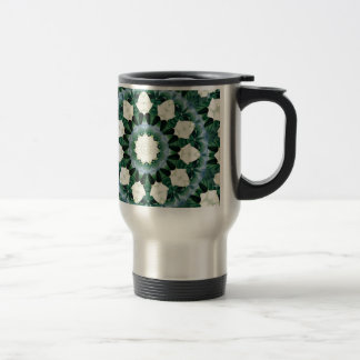 Sacramento Green and Cerulean Blue Mandala Travel Mug