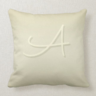 Sacramento Monogram on Pistachio Shell Gradient Throw Pillow