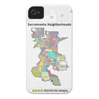 Sacramento Neighborhoods Case-Mate iPhone 4 Case