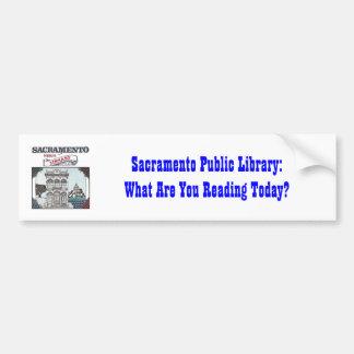 Sacramento Public Library bumper sticker