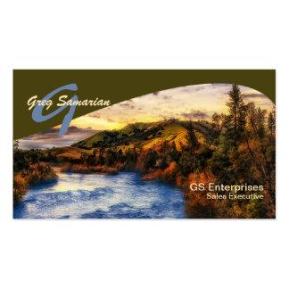 Sacramento River Landscape   Monogram Pack Of Standard Business Cards
