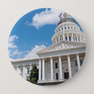 Sacramento State Capitol of California 4 Inch Round Button
