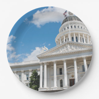 Sacramento State Capitol of California 9 Inch Paper Plate