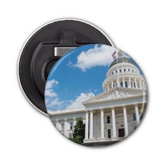Sacramento State Capitol of California Button Bottle Opener