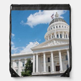 Sacramento State Capitol of California Drawstring Bag