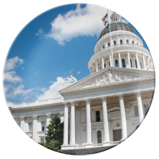 Sacramento State Capitol of California Porcelain Plates