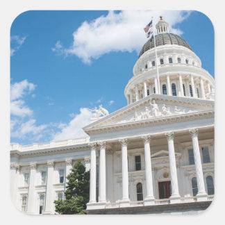 Sacramento State Capitol of California Square Sticker